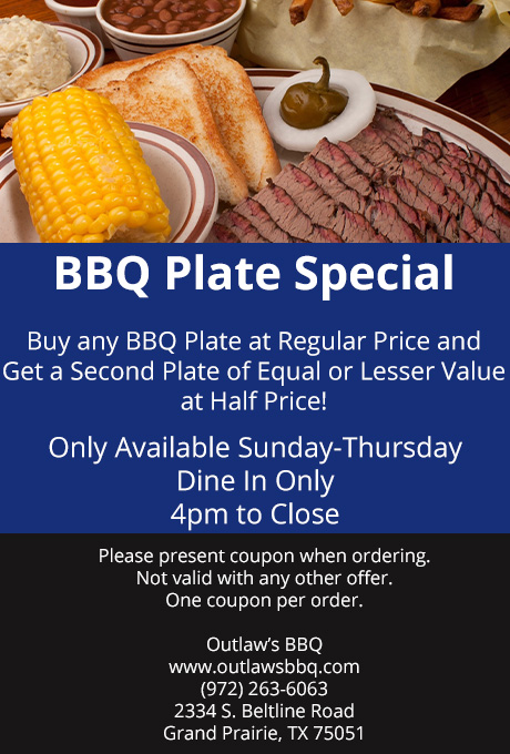 Grand Prairie BBQ Coupons